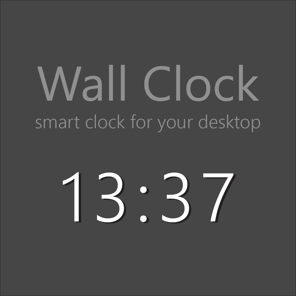 Wall Clock: smart clock for your desktop